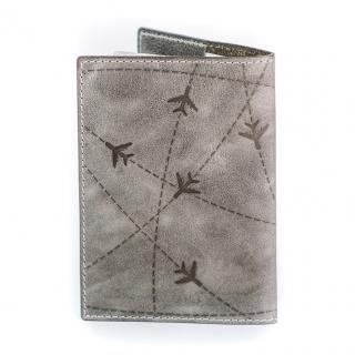 Обложка на паспорт / Aviation / Серый