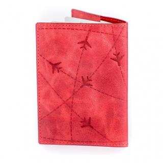 Обложка на паспорт / Aviation / Красный
