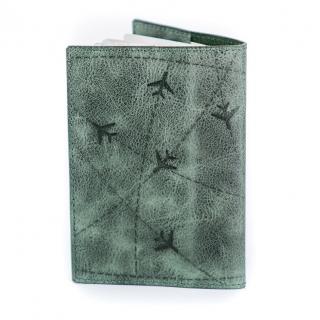 Обложка на паспорт / Aviation / Зеленый