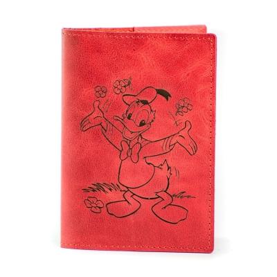 Обложка на паспорт / Cartoon / Красный