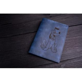 Обложка на паспорт / Cartoon / Синий