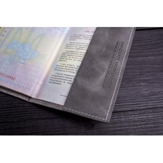 Обложка на паспорт / Cartoon / Серый