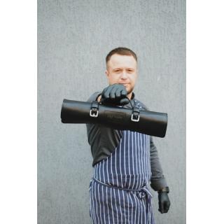 Згорток для кухарських ножів Стандарт Чорно-червоний