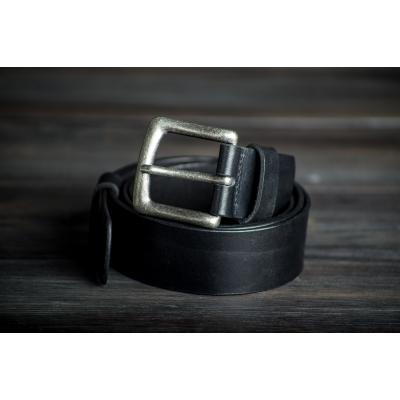 Ремень в джинсы / черный