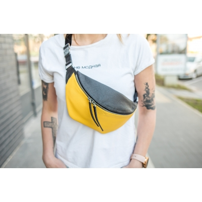 Сумка-бананка / Twixy / Желто-черный