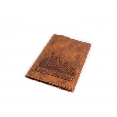 Обложка на паспорт / Travel around the world / Коричневый