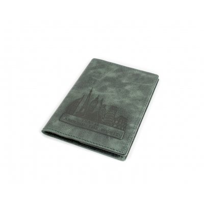 Обложка на паспорт / Travel around the world / Зеленый